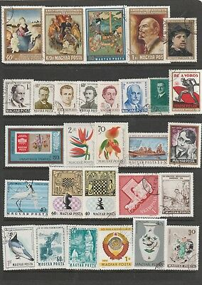 190 Individual Used Stamps from Hungary. Some Early Issues.  See photos.