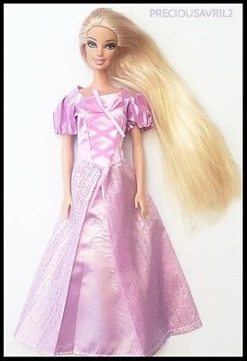 Brand new barbie doll clothes outfit wedding evening princess Rapunzel Dress.
