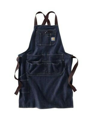 Carhartt Denim Work Apron Multiple pockets adjustable strap ties