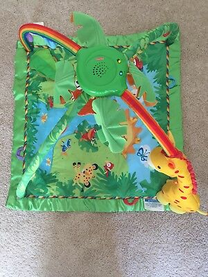Fisher Price Musical Arched Mobile And Playmat Jungle Theme