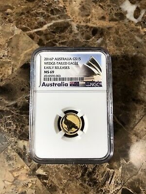 2016 Wedge Tailed Eagle 1/10 Oz Gold Australia NGS MS69 Early Release