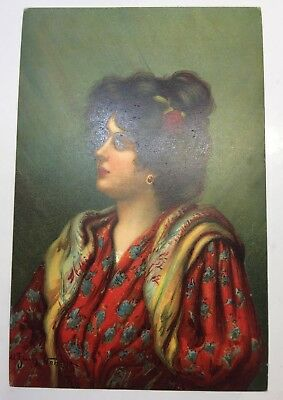 VINTAGE POSTCARD ARTISTIC LADY, foreign  STENGEL & CO series 44 unposted