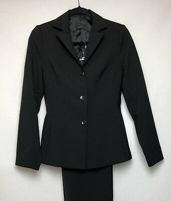 Women's Ojay Wool Pant Suit, Black, Size 8, Good Condition