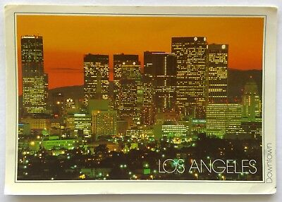Los Angeles Downtown 1988 Postcard (P336)