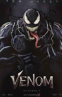 Marvel VENOM 2018 Original Cinemark XD Exclusive Promo Mini Movie Poster Hardy