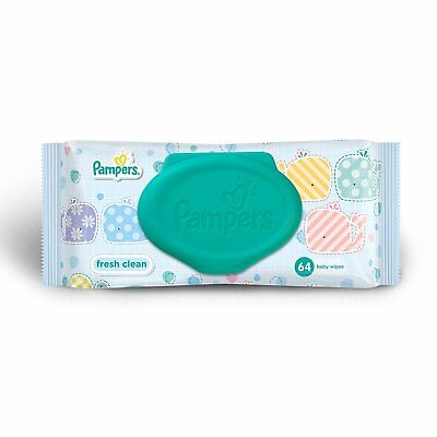 Pampers Fresh Clean Baby Wipes (64 Count) SOFT FS