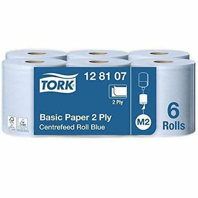 Tork Kitchen Roll Centre Feed Roll 2-Ply Blue - Pack of 6