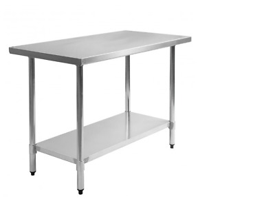 """New Stainless Steel Commercial Kitchen Work Food Prep Table - 30"""" x 48"""""""
