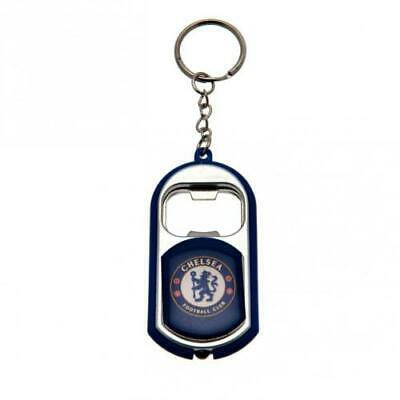 Chelsea Fc Bottle Opener Keyrings With Torch Key Ring Keychain Xmas Gift New
