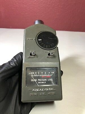 Realistic Sound Level Meter #42-3019 Working Rare!
