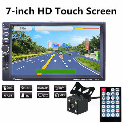 HD 2 Din In-dash Car GPS Navigation Stereo MP3 Player FM Radio MP5 Bluetooth