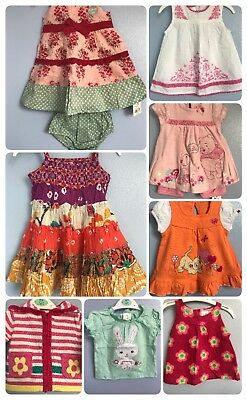 Baby Girl Big Summer Holiday Clothes Dresses Tops Bottom Outfits Bundle NEW 0-3m
