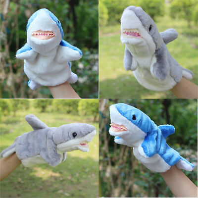 Shark Hand Puppet Baby Kids Child Developmental Soft Doll Plush Toys Xmas Cute