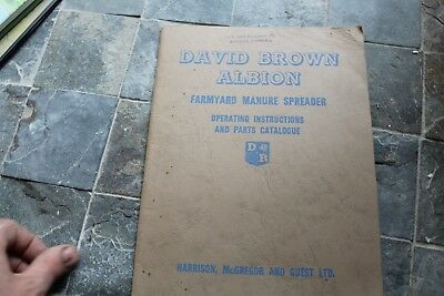 David Brown 1960's Albion operating instruction manual in good condition