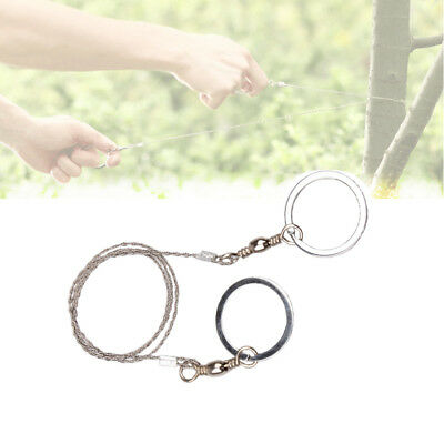 Wire Saw Hiking Camping Stainless Steel Emergency Pocket Chain Commando Survival