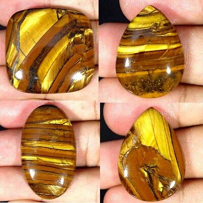 Natural Golden Tiger Eye Oval Pear Cushion Cabochon Loose Gemstone