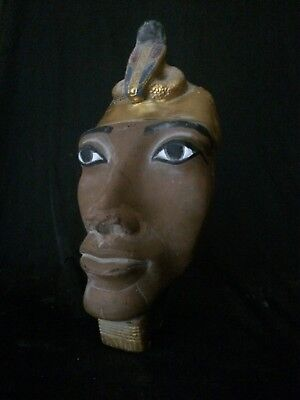 ANCIENT EGYPTIAN ANTIQUITIES EGYPT Statue King AKHENATEN Mask Stone 1353–1336 BC