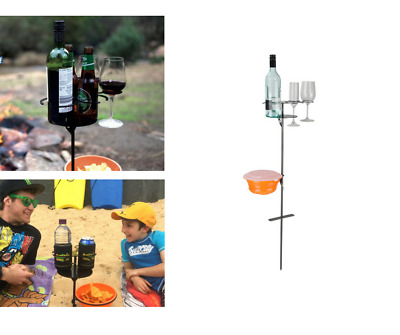 Outdoor Drink Holder Wine Glass Wine Bottle Cup Holder Mugs Camping Picnic