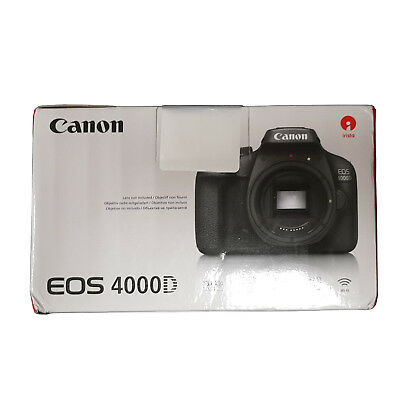 Canon EOS 4000D DSLR Camera Body - Manufacturer Warranty - Next Day UK Delivery
