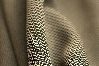 Light Weight Micro Chevron Textured Suiting Dress Fabric Material (Antique Gold)