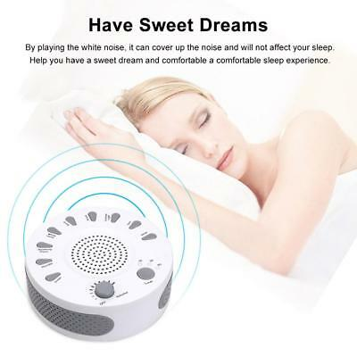 Sleep Sound Machine Therapy White Noise Night Sleeping Aid Auto Timer Sound W8R3
