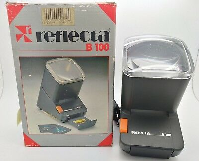Reflecta B 100 - 35mm / Half Frame Transparency / Slide Viewer - Boxed Working