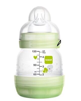 MAM Unisex Anti Colic Bottle 130ml 4.5oz Self Sterilising