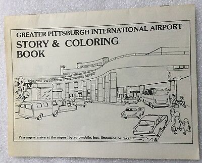 Greater Pittsburgh Airport Airplane Story Coloring Book - Vintage - Unique