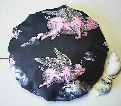 Shower Cap Flying Pigs Bath Shower Soft Comfortable Cotton Outer UK Love 🐷 Gift