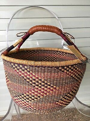 Handwoven Ghana African Bolga Basket Large New with Tag