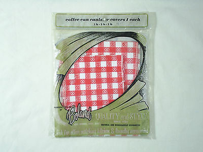 Kitchen Cover For 1 to 3 pound Coffee Can 60's to 70's New Old Stock Vintage