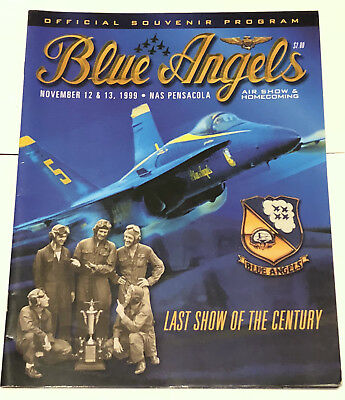 Blue Angels Souvenir Program Pensacola FL November 1999 FREE SHIPPING