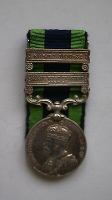 1908 India General Service Medal 2 bars, NFW 1930-31 & Burma 1930-32 to Lancers