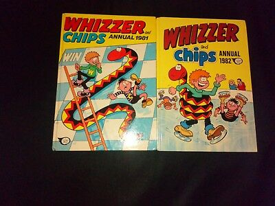 Whizzer And Chips Annuals x 2 1981,1982 Vintage U.K Comic