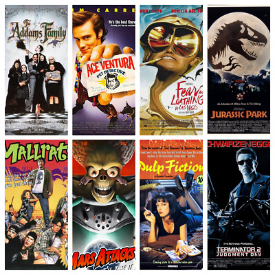 90s Movie Posters - 159 To Choose - Classic Movies Art Films Mini Posters A4 A5