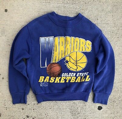 Vintage KIDS Golden State Warriors Long Sleeve Sweatshirt shirt jersey youth NBA