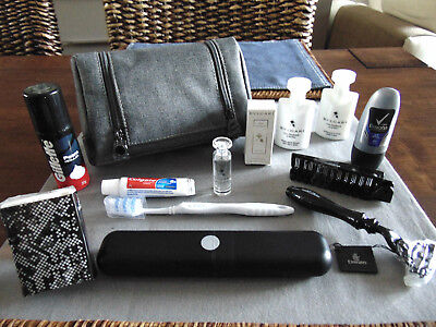 EMIRATES Business Class Gent's BVLGARI Amenity Kit Trousse Neceser Kulturbeutel