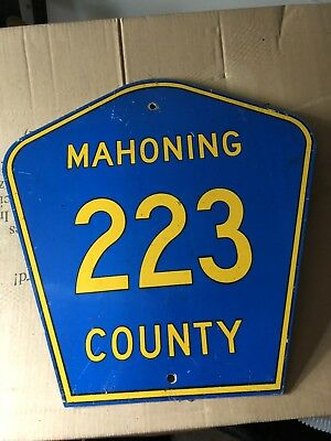 Mahoning County 223 Retired Road Metal Sign