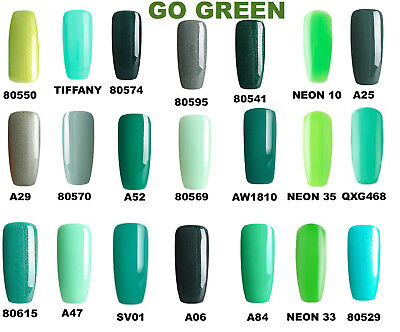 Bluesky Green Most Wanted Nail Gel Polish Uv Led 10Ml, Choose Your Green +Wipes
