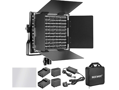 Neewer Dimmable Bi-color 660 LED Video Light & Charger, Photography Youtube Vlog