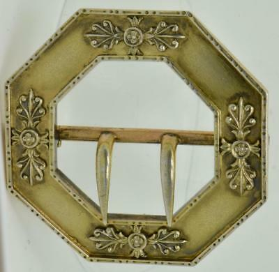 WOW! Imperial Russian FABERGE gild silver ladies belt buckle.Belonged to Duckess