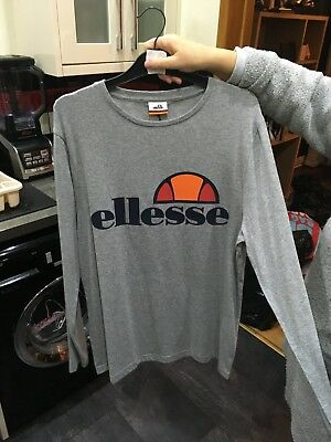 520073fc MENS ELLESSE LONG sleeve top size medium blue - $15.31 | PicClick