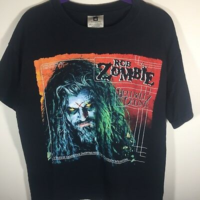 a034f1b935143 Vintage ROB ZOMBIE T Shirt Size L 1998 Hellbilly Deluxe 90 s Vintage Metal  Shirt