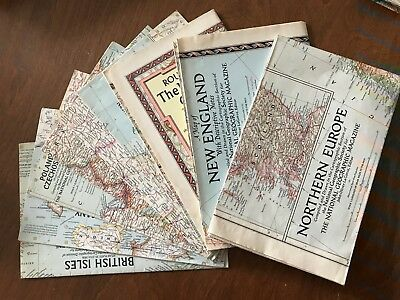 National Geographic Map Lot 1950s