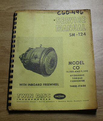 1970 Twin Disc CO Hydraulic Torque Converter 3 Stage Service Manual SM-124