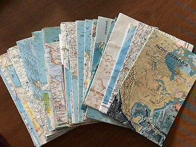 National Geographic Map Lot 1960s