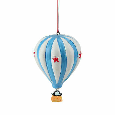 """Midwest 3.5"""" Novelty Colorful Star Hot Air Balloon Christmas Ornament"""