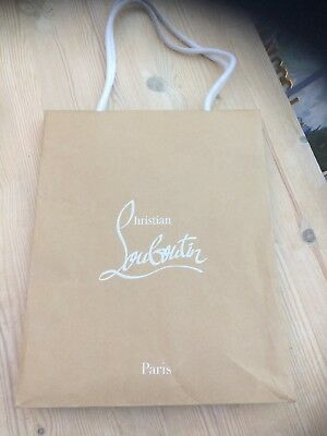 Christian Louboutin Gift Carrier Bag  12 X 10  X 5  Ins  - Perfect