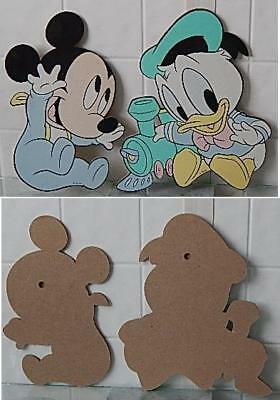 Vintage Disney Babies Wall Art Hangings Mickey Mouse and Donald Duck