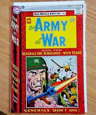 "1964 Our Army at War #148 Sgt Rock Easy Co. ""Rock Becomes General"" Joe Kubert"